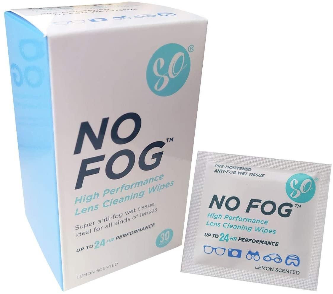 SO NO Fog Anti-Fog Wipes, Steamed Up Glasses
