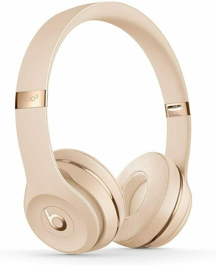 Beat by Dr. Dre Solo3 Wireless Headband Headphones Satin Gold On-Ear Headphone