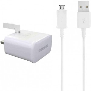 Samsung EP-TA20UWE 2 A UK Mains Fast Charging Adapter and USB cable (White)
