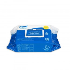 Clinell CAHW200 Antibacterial Hand Wipes